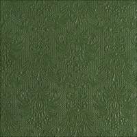 "Serviette Elegance ""Dark Green"" 33 x 33 cm 15er Packung"