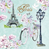 "Serviette ""Bike in Paris"" 33 x 33 cm 20er Packung"